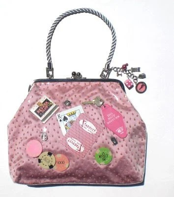 Couture Vintage Jet Set inspired Handbag Made In USA- Vegas Baby Pink - RevampProductions