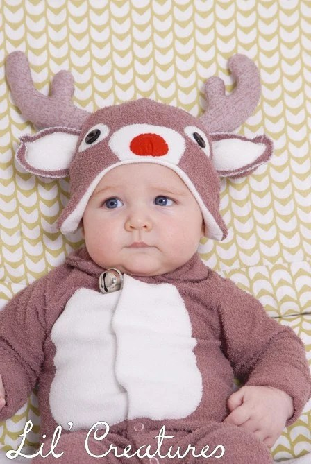 Rudolf Reindeer Christmas Hat Only - BABY to ADULT SIZES - Lil' Creatures - LilCreatures