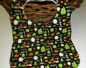 Spooky Black Halloween Baby Bib - BrennysBibbies