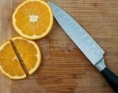 Kitchen Art Photograph - Sliced - 8x10 print, oranges, cutting board, modern wall decor, efpteam, fpoe - ErinBphoto