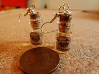 BUTTERBEER NECKLACE AND EARRING SET