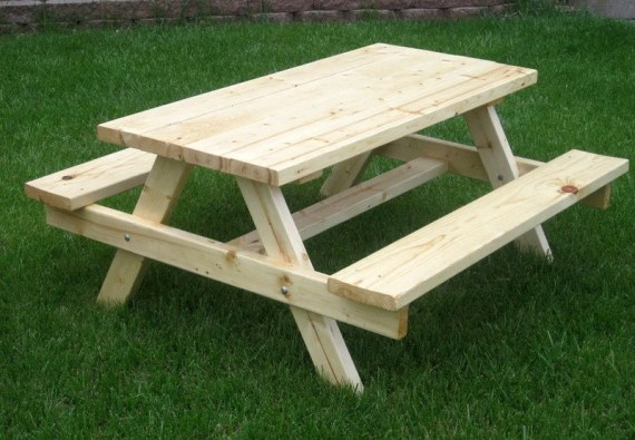 Children's Picnic Bench, Natural 4-Foot - ericspicnicbenches