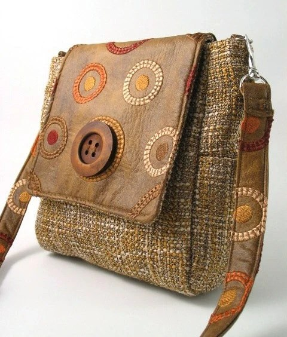 vegan backpack- handbag- messenger bag - tote bag- purse -cross body bag