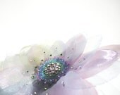 Soft purples romantic Organza flower brooch and hairpin - Monikque