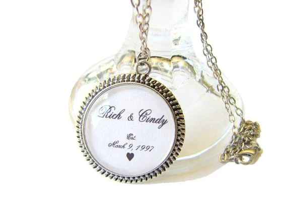 Custom Personalized Necklace Wedding Dates, Anniversaries Baby's Birth, Graduation Dates Bridesmaids Gifts Maid of Honor - MyDifferentStrokes