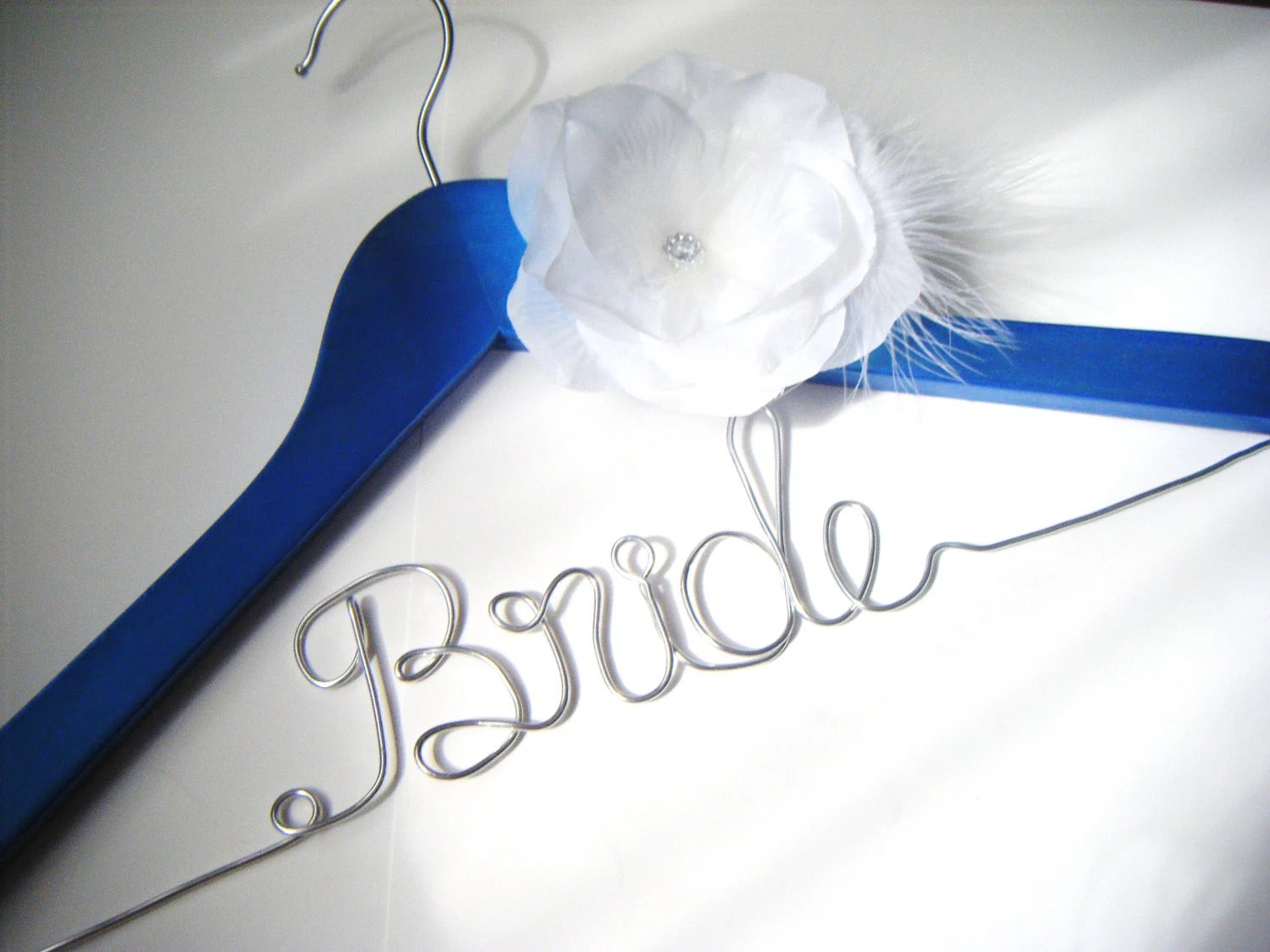Something Blue Personalized Hanger