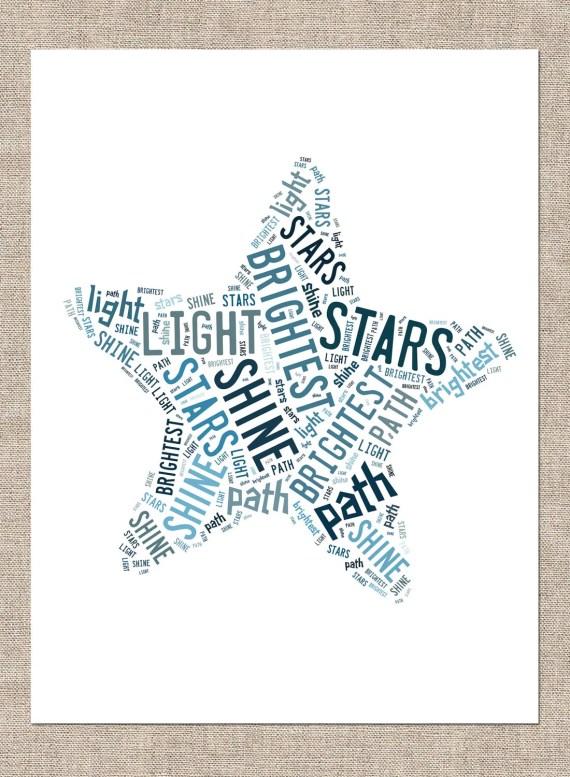 "11x14 ""Shining Star"" Print - CreativeinBloomLLC"