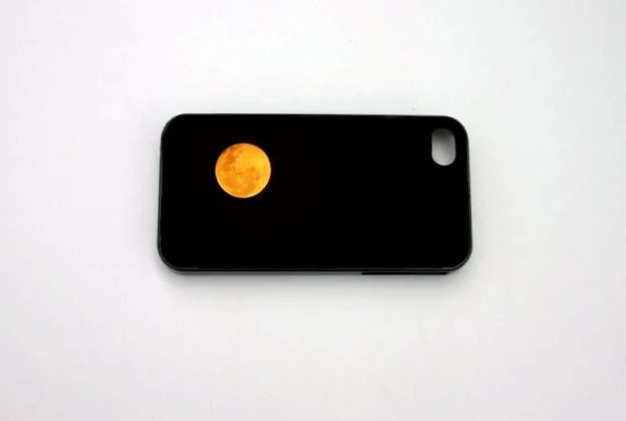 Halloween, Plastic Case,  iPhone 4 Case,  iPhone 4s case, October Trends, Autumn, Fall, Moon, Black, Orange Yellow - 8daysOfTreasures