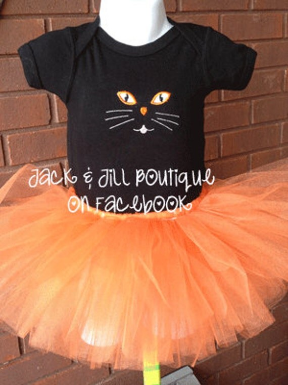 kitty cat costume shirt only for Halloween 3m, 6m, 9m, 12m, 18m, 24m, 2t, 3t, 4t, 5t, 4/5, 6/6x, 7/8 - DesignsbyMichelleL