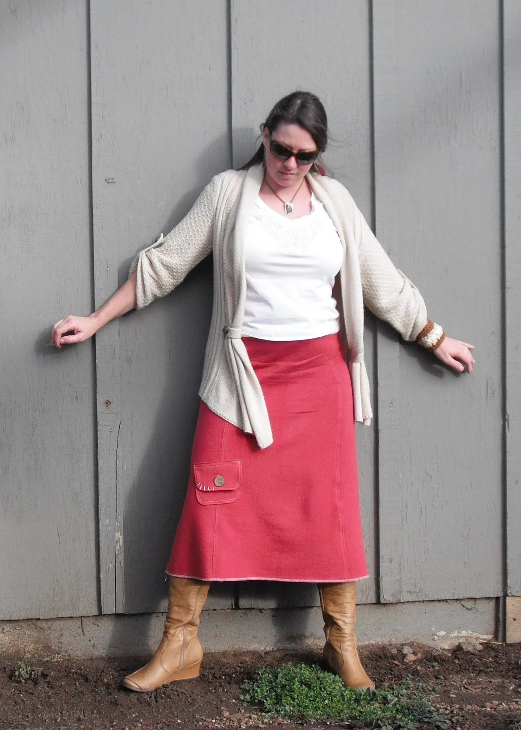 "Hemp Fleece Long Skirt Hemp Organic Cotton Fleece ""Zoe"" Skirt Made to Order"