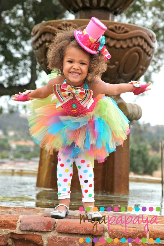 Mad Hatter Costume Tutu Dress 12months-5t  Alice in Wonderland, Tea Party Halloween Costume - MyaPapayaBoutique