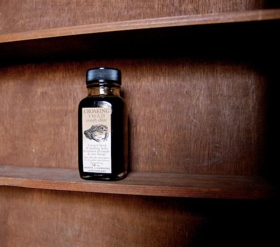 CROAKING TOAD Cough & Sore Throat Elixir - Organic - 2 oz