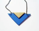 NOW ON SALE Chevron Angle Necklace - PurpleCandied