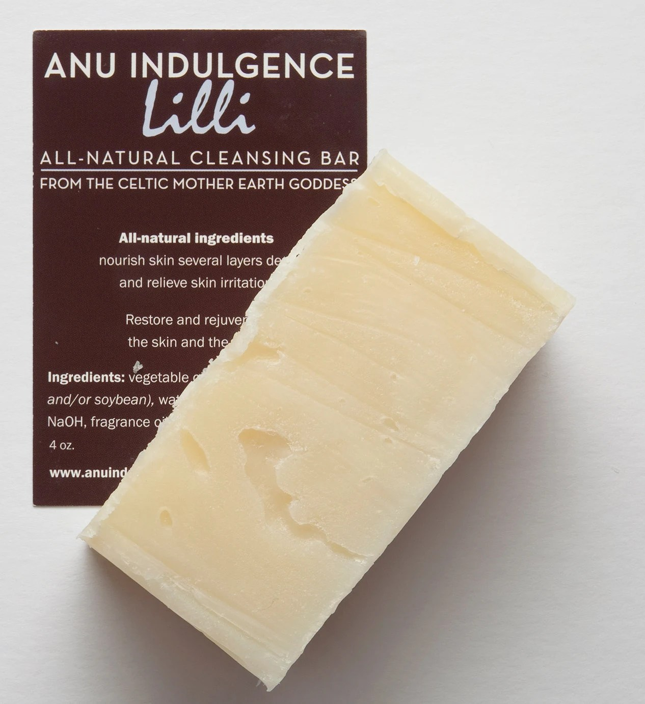Lilli All Natural Cleansing Bar - Clean Scent of Lilly of the Valley