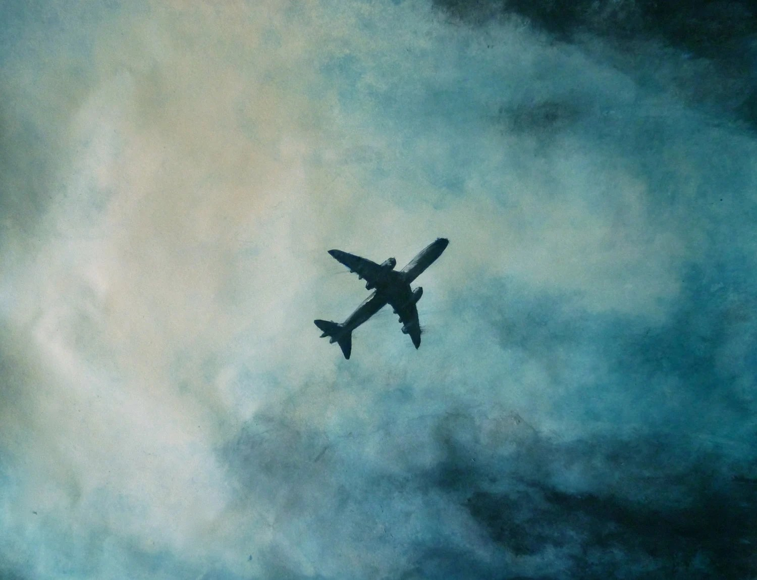 Airplane ART PRINT Limited Edition by AF. Marlow