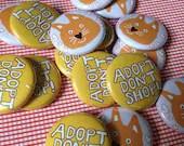Foster Kitten Party Fund Pinback Button Badge Set - badideasleepover