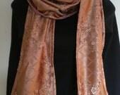 extra long velvet blossom upcycled scarf