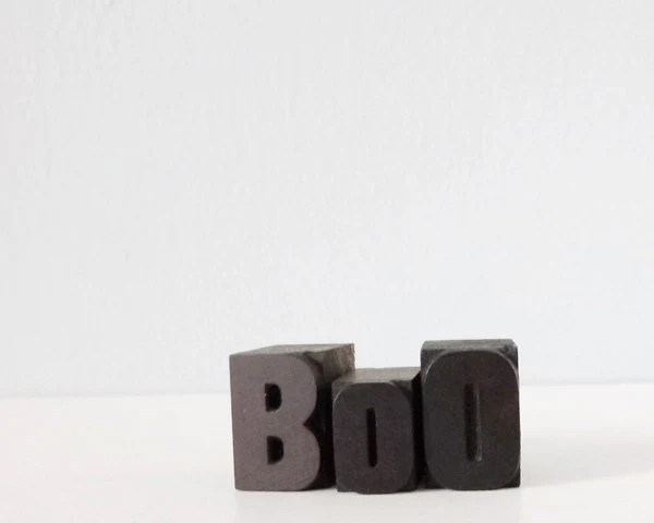 Boo Halloween decoration wood blocks vintage letterpress letter block set