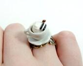 Miniature Coffee Latte Ring - Glamour365