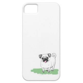 Pug Illustration for NEW iPhone 5 Case