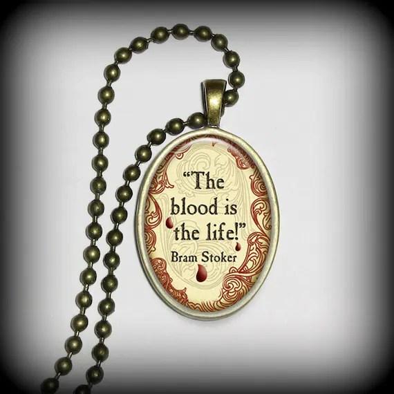 Bram Stoker Pendant, Dracula Pendant, Literary Pendant, Necklace Pendant (p110)