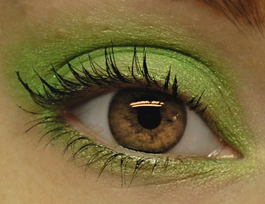 Lime Green Glitter Eyeshadow - RADIOACTIVE Mineral MINI Eye Shadow - BLSoaps
