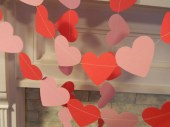 Paper Garland Valentines Day Decorations 6ft Red and Pink Heart Garland Party Decor Heart Banner Valentiens Day Photo Prop - anyoccasionbanners