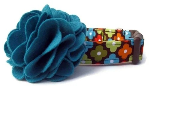 Fall Dog Collar and Flower Accessory - Autumn Annie Flowers - BigpawCollars