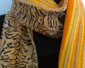 wild tiger upcycled scarf