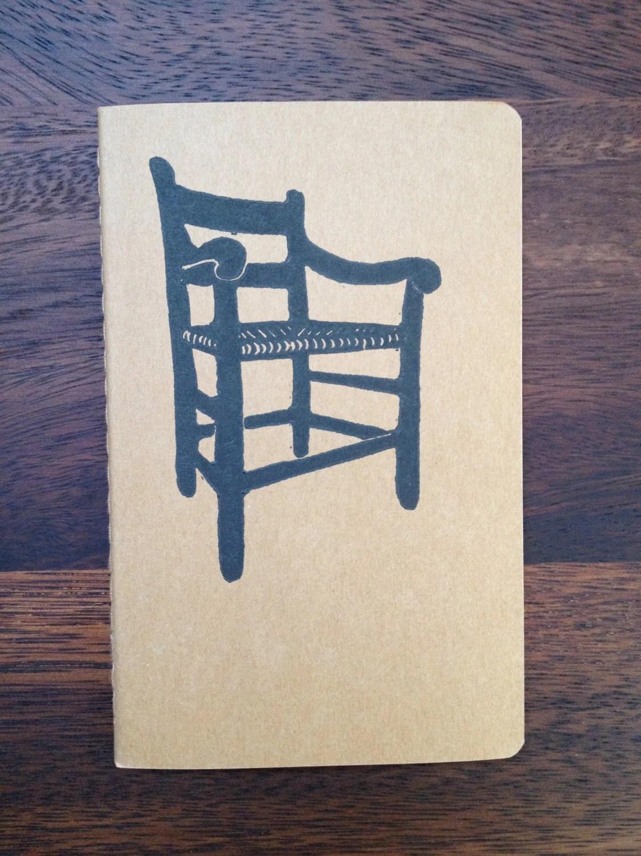 Johnnie Chair Journal - Hand Printed Pocket Size Moleskine Notebook