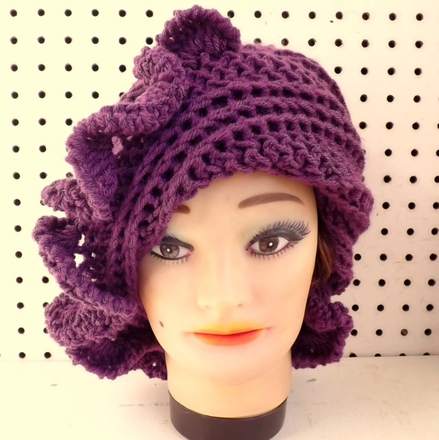 CYNTHIA Women Crochet Beanie Hat for Women in Mixed Berry Purple