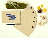 Please Come Visit Me In Portland - Postcard 6 Pack  - Six recycled kraft paper postcards - cooljane