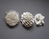 Bleached Coral Look Ceramic wall hanging, ocean art, beach art, summer art, coral sculpture, reef art - CoastalCeramics