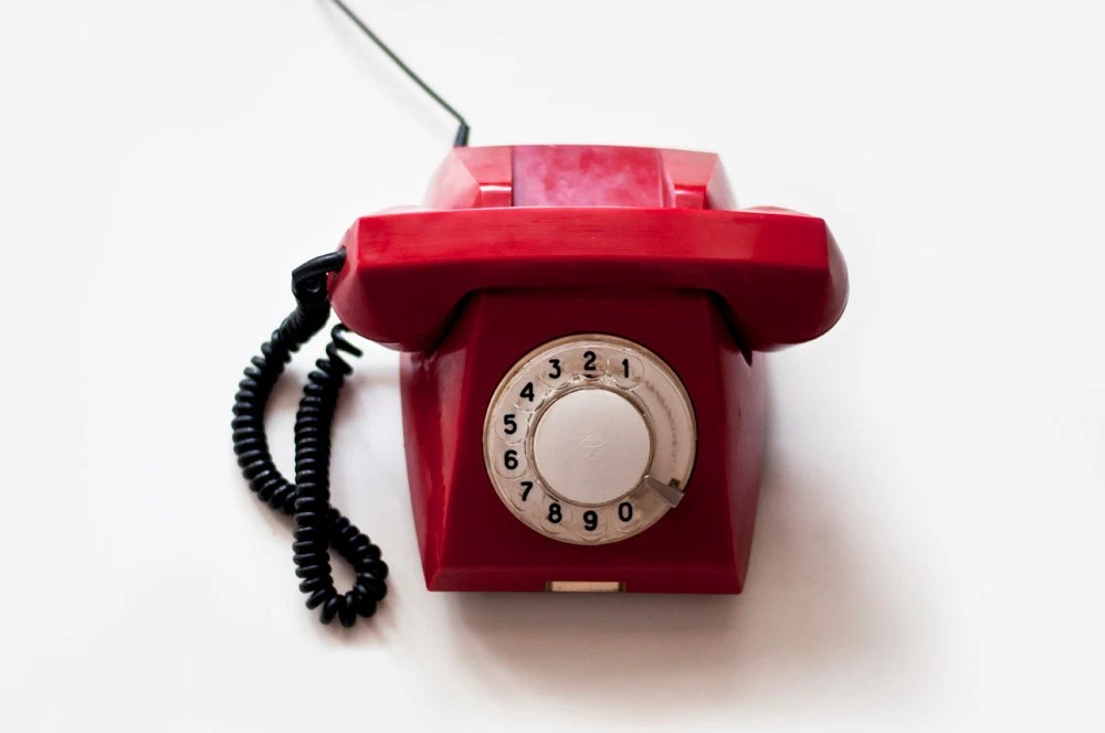 Vintage Rotary phone - Red - Vintage Home Decor - made in Soviet Union - CuteOldThings