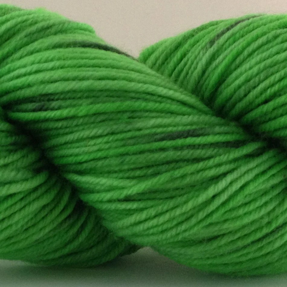 Hand Dyed Merino Worsted weight yarn- Three-Leaf Clover