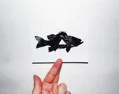 5 Cards and Envelopes - Geometric Fish - GeometricInk