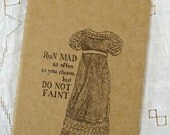 Jane Austen journal - Do Not Faint - Regency fashion illustration, Moleskine