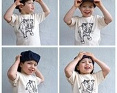 Organic Newsboy Cap for Kids in Blue Denim, Size M (5yo to 8yo), organic cotton, hemp,  READY to ship