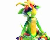 Custom Made  for you ooak Needle Felt Fantasy Goblin Wool Fiber Art Doll Soft Sculpture  Made to order
