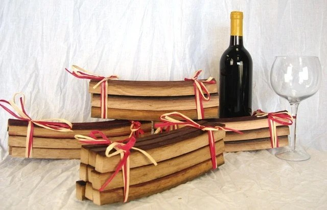 Napa Wine Barrel Stave Bundles - For BBQ and Grilling - gift ready 100% Recycled and Natural - winecountrycraftsman