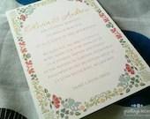 DIY Printable Bohemian Wedding Invitation with RSVP - Aubrey - GreetingsOscar