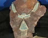 Zuni needle point Classic necklace set