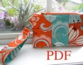 Wristlet PDF Sewing Pattern, Thumbprint Patterns, Clutch, Purse, Wallet, Ebook, Tutorial