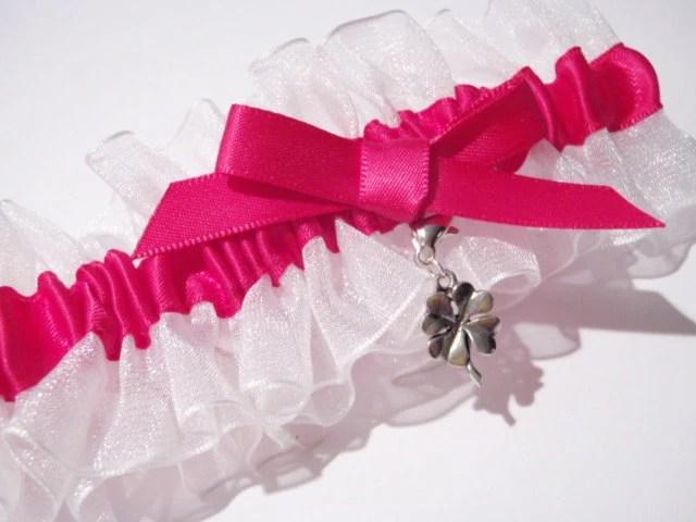 Hot Pink Lucky Charm Garter