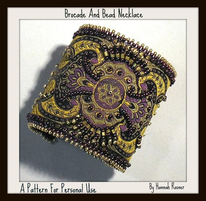 Brocade and Bead Embroidered Bracelet