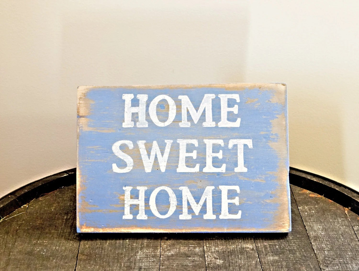 """Handmade Distressed """"Home Sweet Home"""" Sign"""