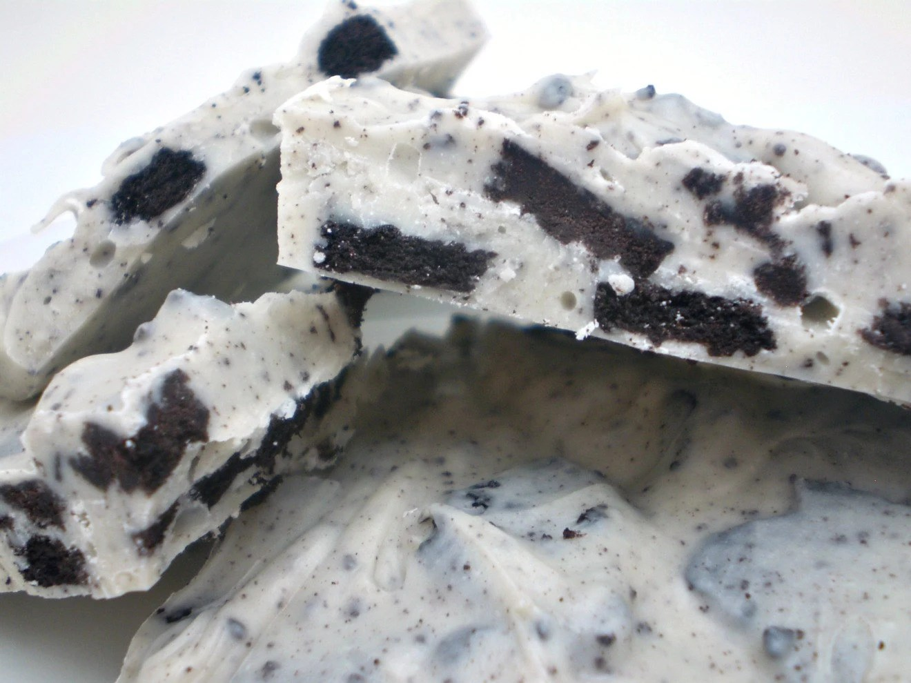Oreo Cookie Vanilla White Chocolate Bark for Valentine's Day - 2 Individual 3 oz bags