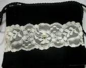 Black Velvet Bag Shabby Chic