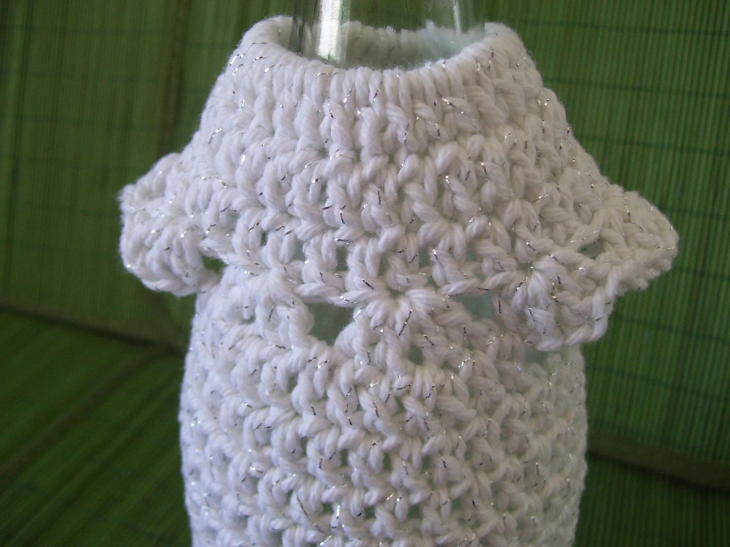 Crocheted Wine Bottle Dress