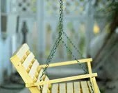 A Yellow Porch Swing Fine Art Photo - JohnHarmonGallery